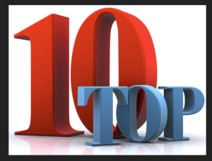 My TOP TEN LIST