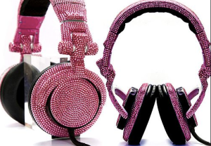 Swarovski Crystal DJ Headphones