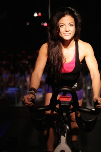 Dyan on a Bike
