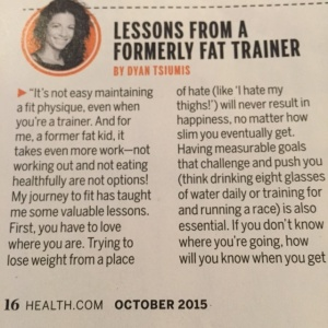 THIS is what happens when you're grateful for where you've come from and live OUT LOUD. Now that's FIERCE. THANK YOU HEALTH Magazine!